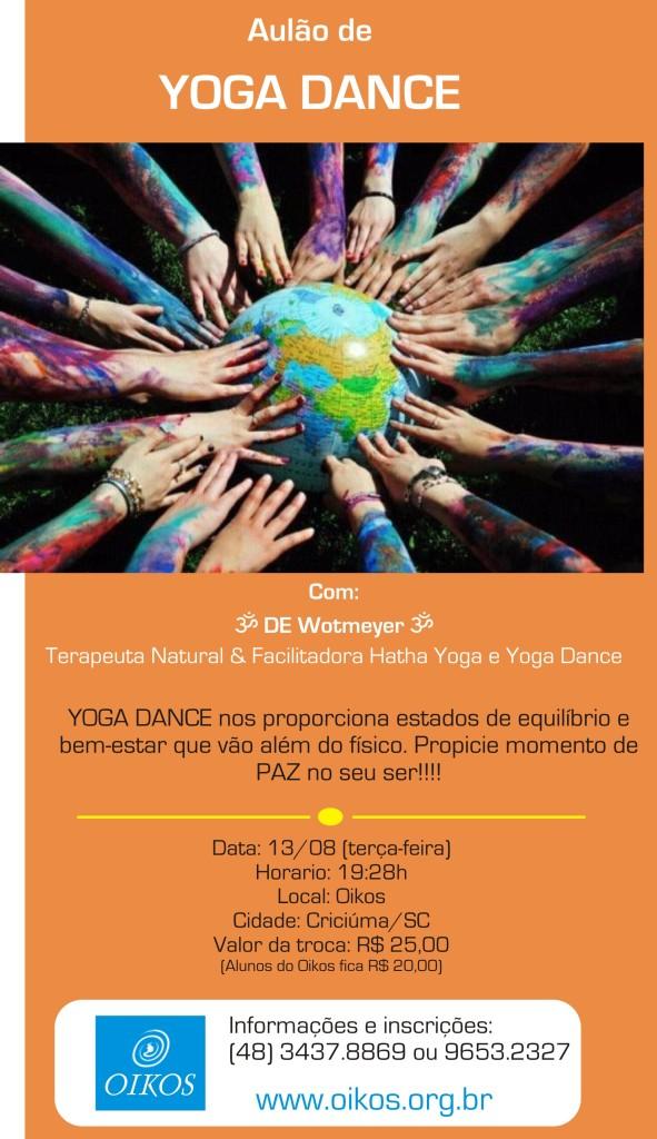Aulao de Yoga dance no Oikos: experimente!