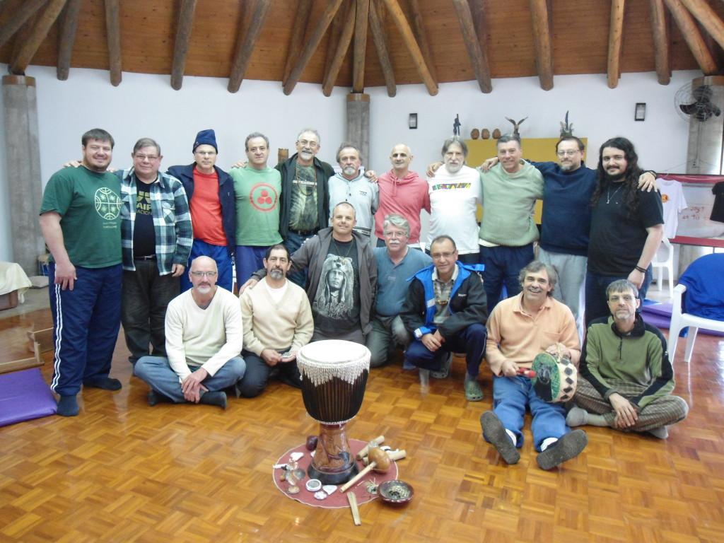 Foto final de todo o grupo que participou do encontro desse fim de semana