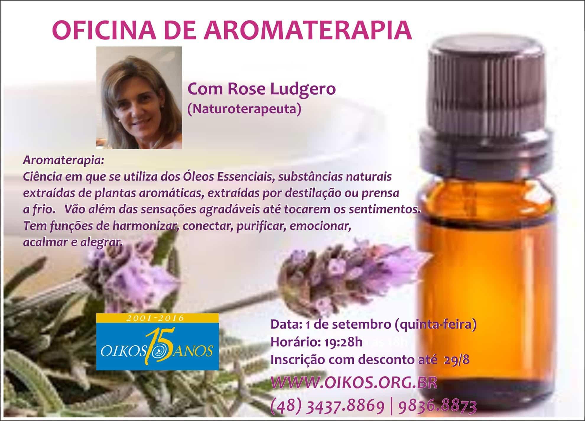 Oficina de aromaterapia