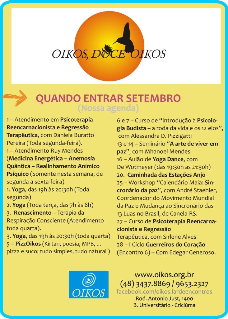 Conheça, participe, divulgue o Oikos...